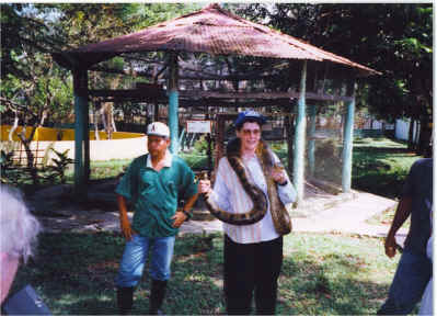 Ann with anaconda